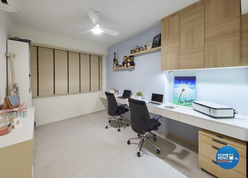 Modern, Rustic, Scandinavian Design - Study Room - HDB 4 Room - Design by Carpenters 匠