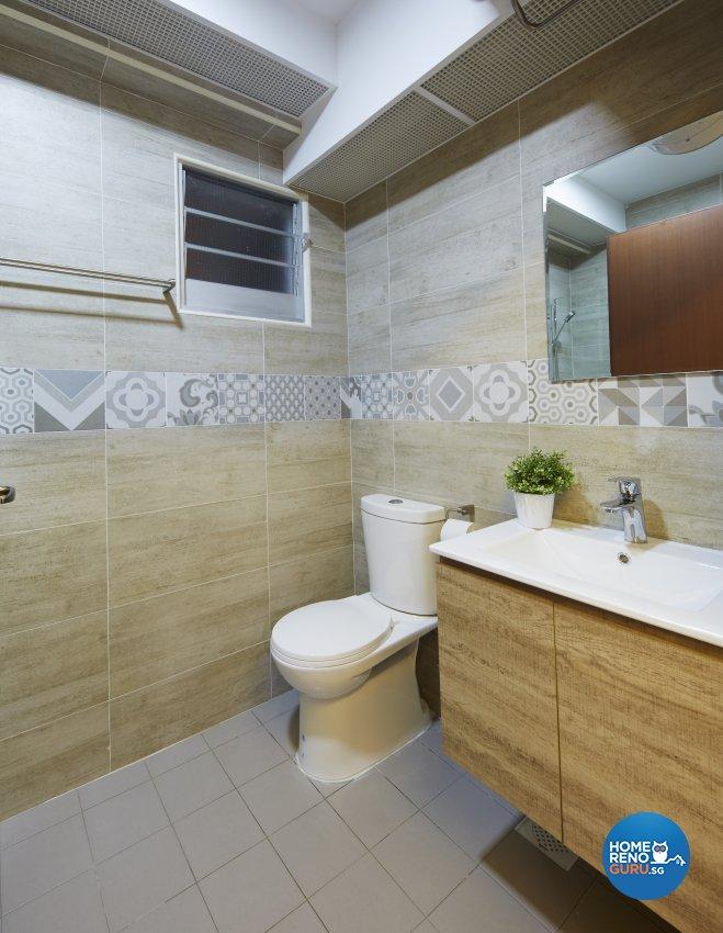 Modern, Rustic, Scandinavian Design - Bathroom - HDB 4 Room - Design by Carpenters 匠