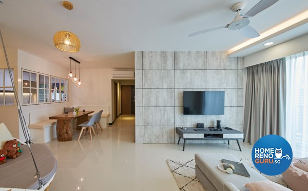 Eclectic, Minimalist, Scandinavian Design - Living Room - HDB 4 Room - Design by Carpenters 匠