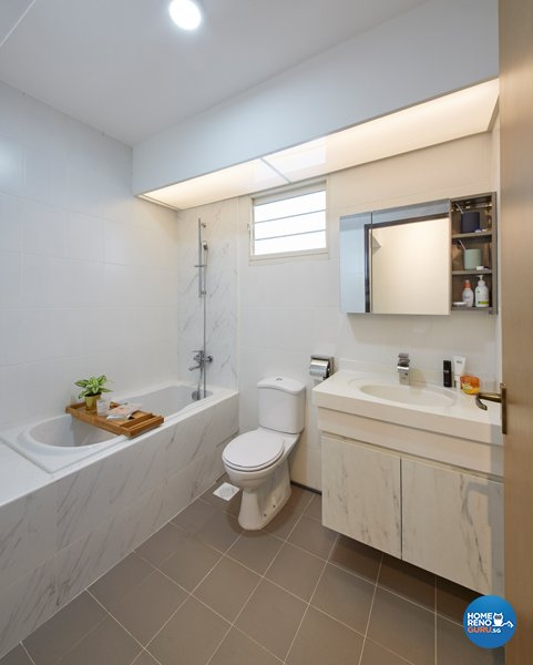 Eclectic, Minimalist, Scandinavian Design - Bathroom - HDB 4 Room - Design by Carpenters 匠