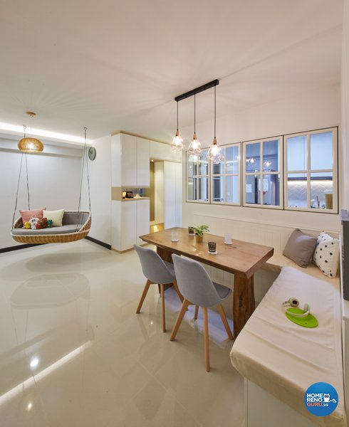 Eclectic, Minimalist, Scandinavian Design - Dining Room - HDB 4 Room - Design by Carpenters 匠