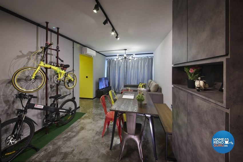 Industrial, Rustic, Scandinavian Design - Living Room - HDB 3 Room - Design by Carpenters 匠