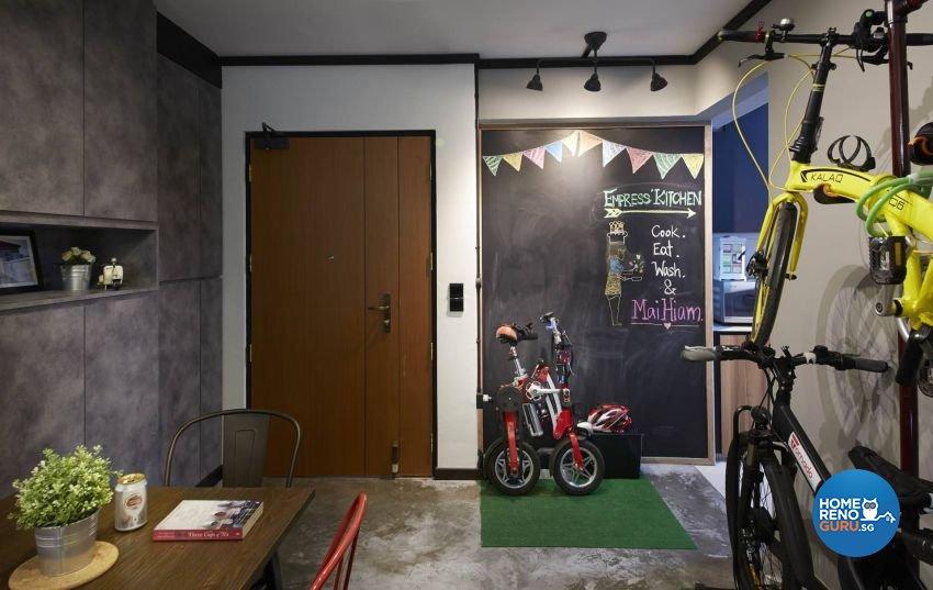 Industrial, Rustic, Scandinavian Design - Living Room - HDB 3 Room - Design by Carpenters 匠