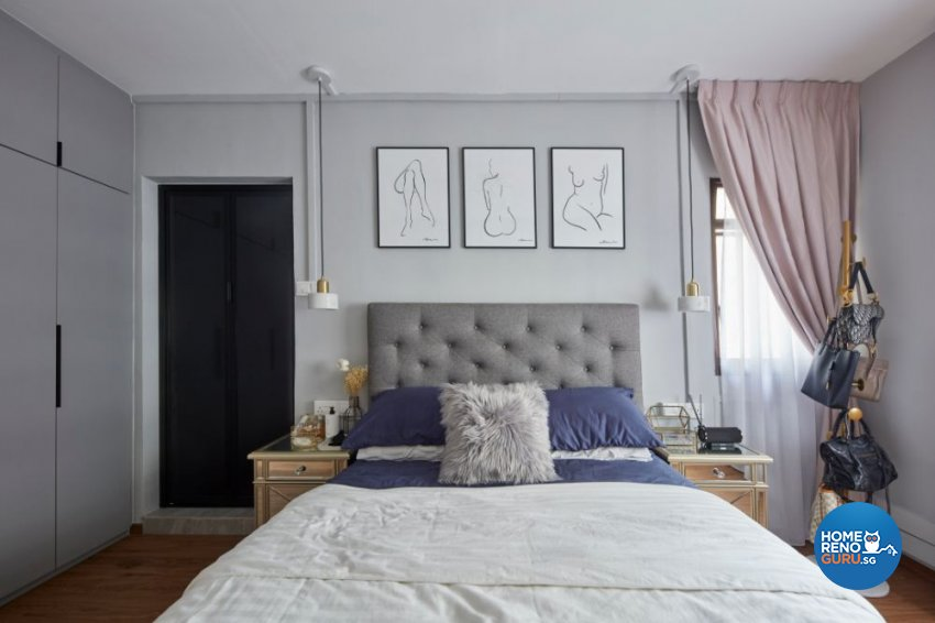 Eclectic Design - Bedroom - HDB 5 Room - Design by Carpenters 匠