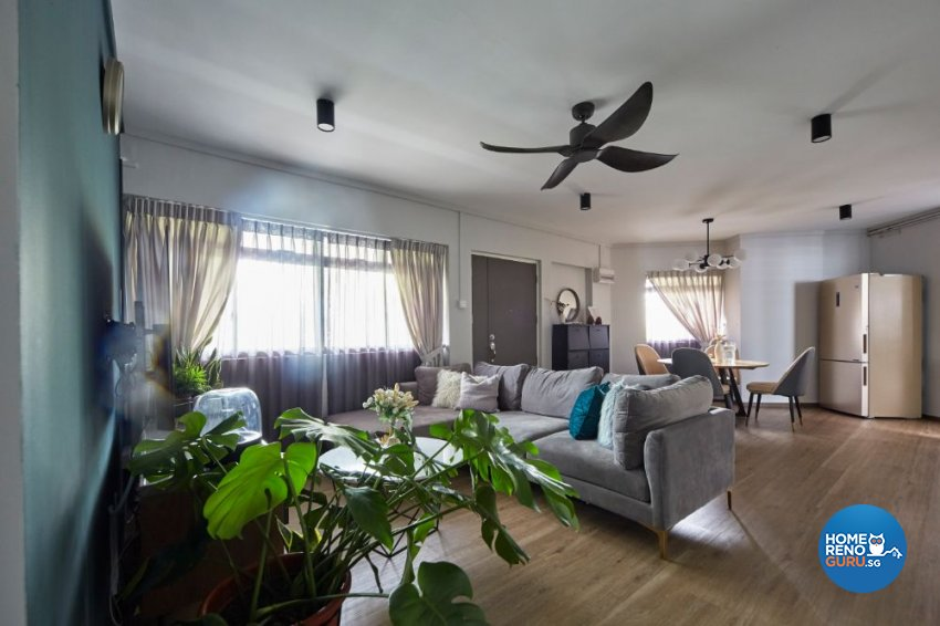 Eclectic Design - Living Room - HDB 5 Room - Design by Carpenters 匠