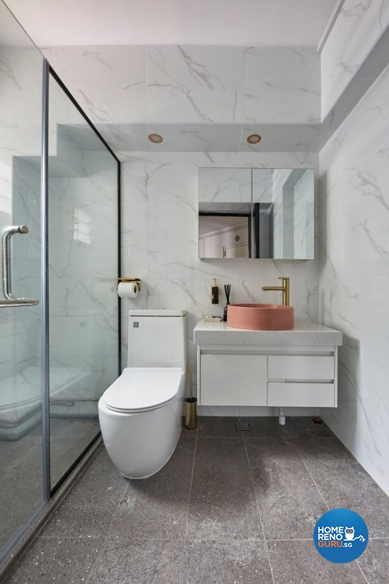 Eclectic Design - Bathroom - HDB 5 Room - Design by Carpenters 匠
