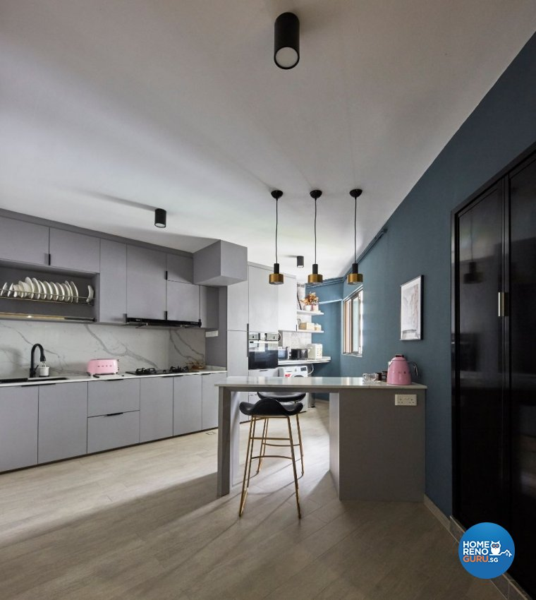 Eclectic Design - Kitchen - HDB 5 Room - Design by Carpenters 匠