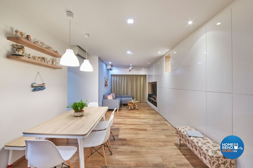 Classical, Contemporary, Modern Design - Dining Room - HDB Executive Apartment - Design by Carpenters 匠