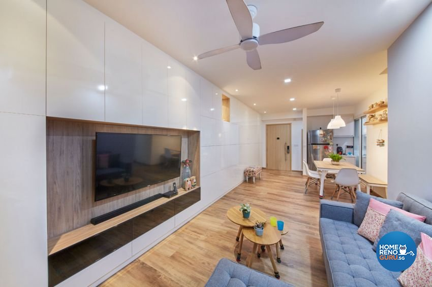 Classical, Contemporary, Modern Design - Living Room - HDB Executive Apartment - Design by Carpenters 匠