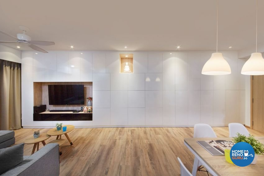 Classical, Contemporary, Modern Design - Living Room - HDB Executive Apartment - Design by Carpenters 匠
