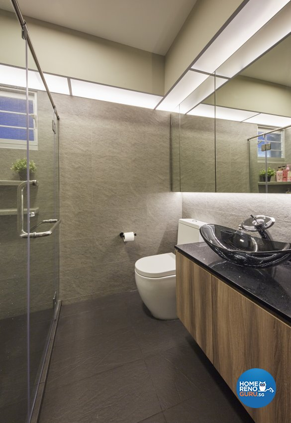 Eclectic, Industrial, Scandinavian Design - Bathroom - HDB 4 Room - Design by Carpenters 匠