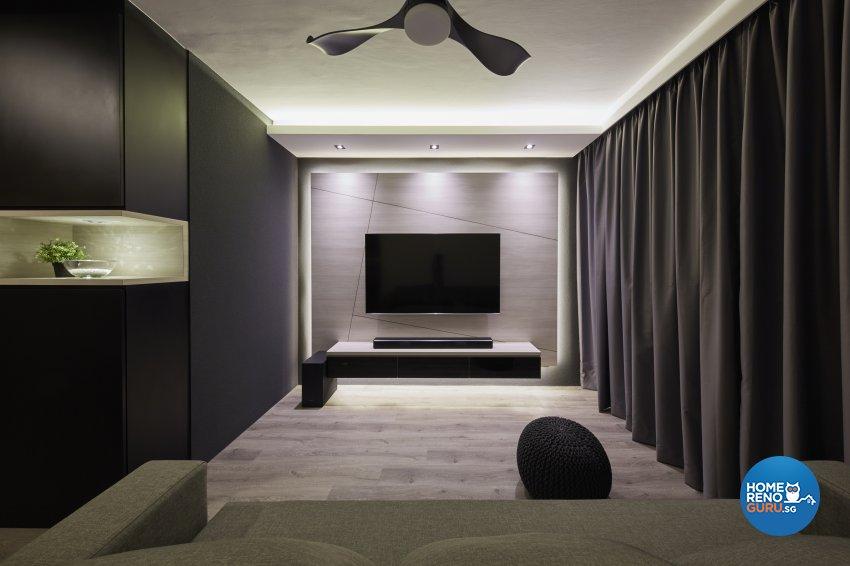 Eclectic, Industrial, Scandinavian Design - Living Room - HDB 4 Room - Design by Carpenters 匠