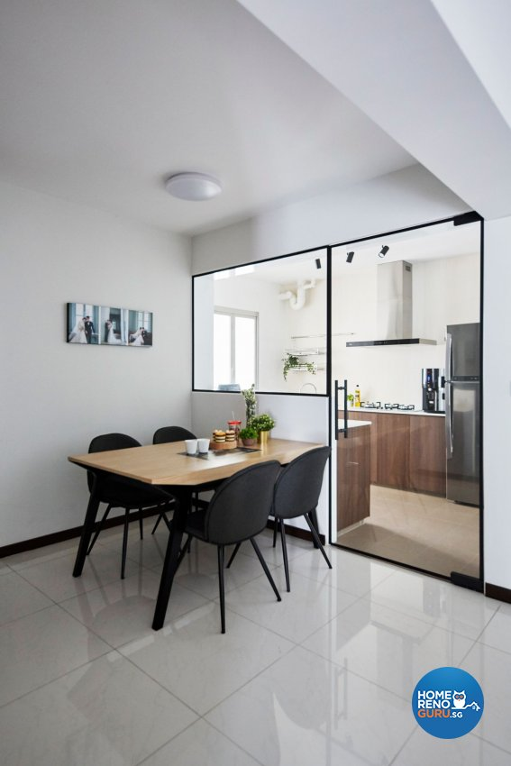 Eclectic, Minimalist, Modern Design - Dining Room - HDB 4 Room - Design by Carpenters 匠