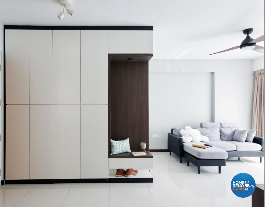 Eclectic, Minimalist, Modern Design - Living Room - HDB 4 Room - Design by Carpenters 匠