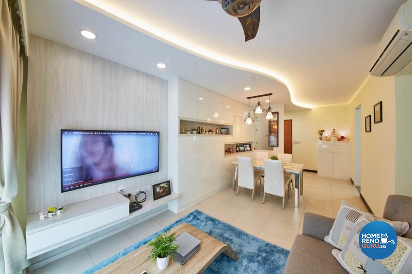 Modern, Scandinavian Design - Living Room - HDB 4 Room - Design by Carpenters 匠