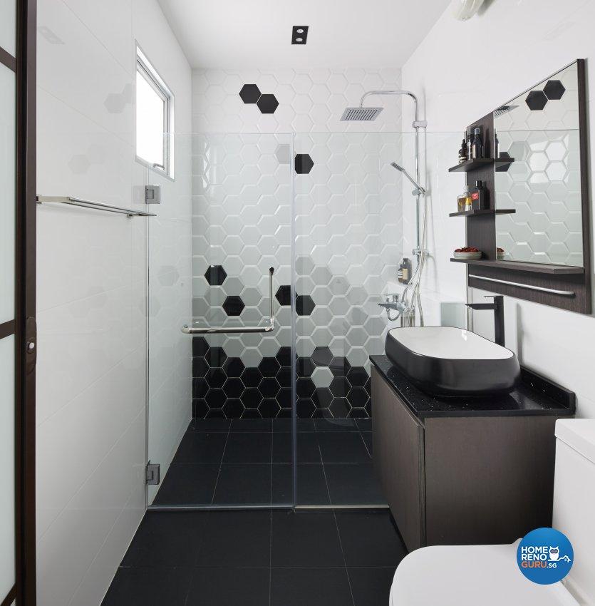 Industrial, Modern Design - Bathroom - HDB 4 Room - Design by Carpenters 匠