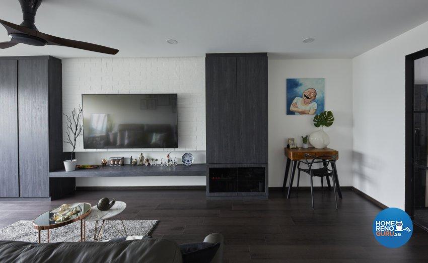 Industrial, Modern Design - Living Room - HDB 4 Room - Design by Carpenters 匠