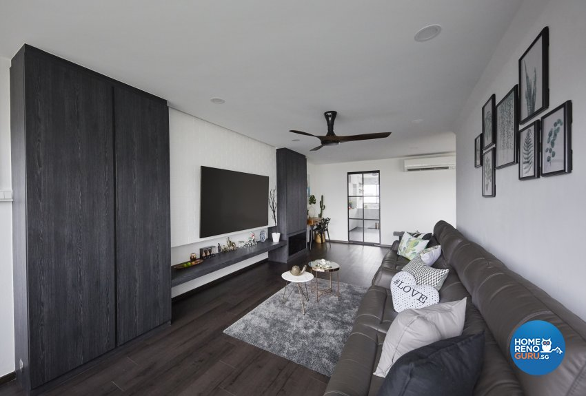 Industrial, Modern Design - Living Room - HDB 4 Room - Design by Carpenters 匠