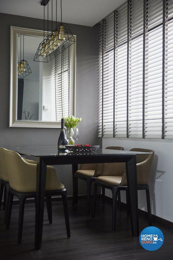 Industrial, Modern Design - Dining Room - HDB 4 Room - Design by Carpenters 匠