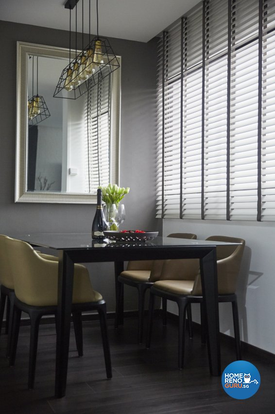 Industrial, Modern Design - Dining Room - HDB 4 Room - Design by Carpenters 匠