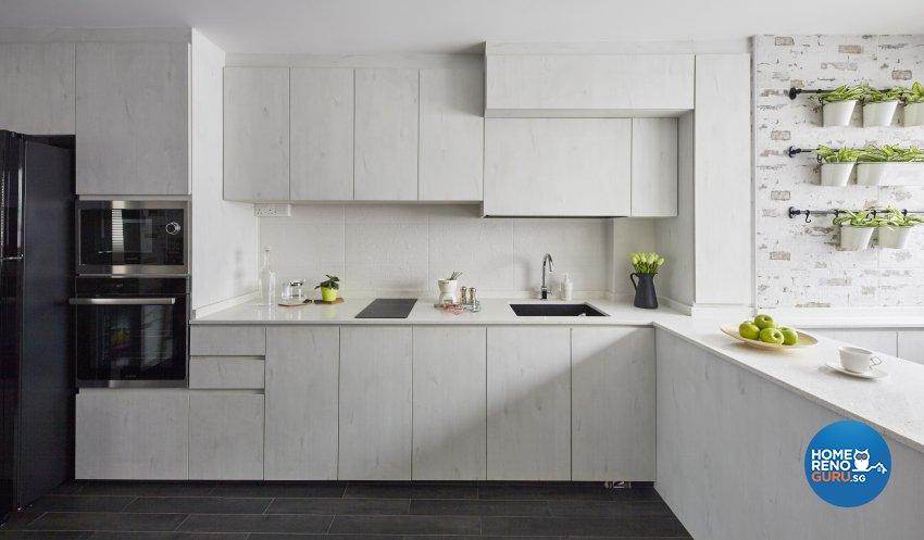 Industrial, Modern Design - Kitchen - HDB 4 Room - Design by Carpenters 匠