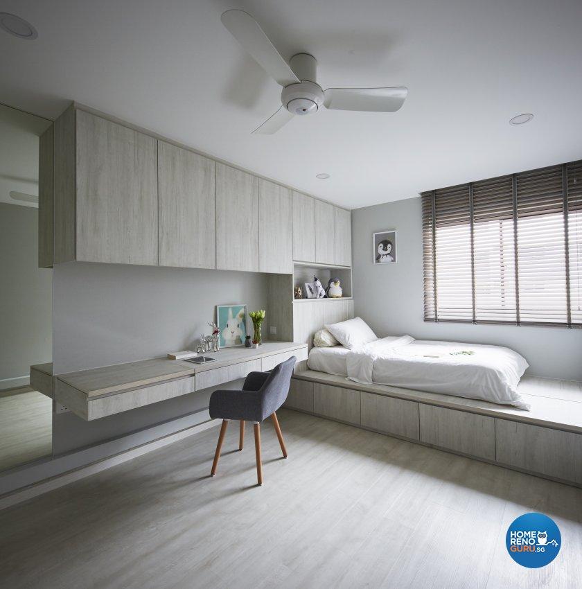 Industrial, Modern Design - Bedroom - HDB 4 Room - Design by Carpenters 匠