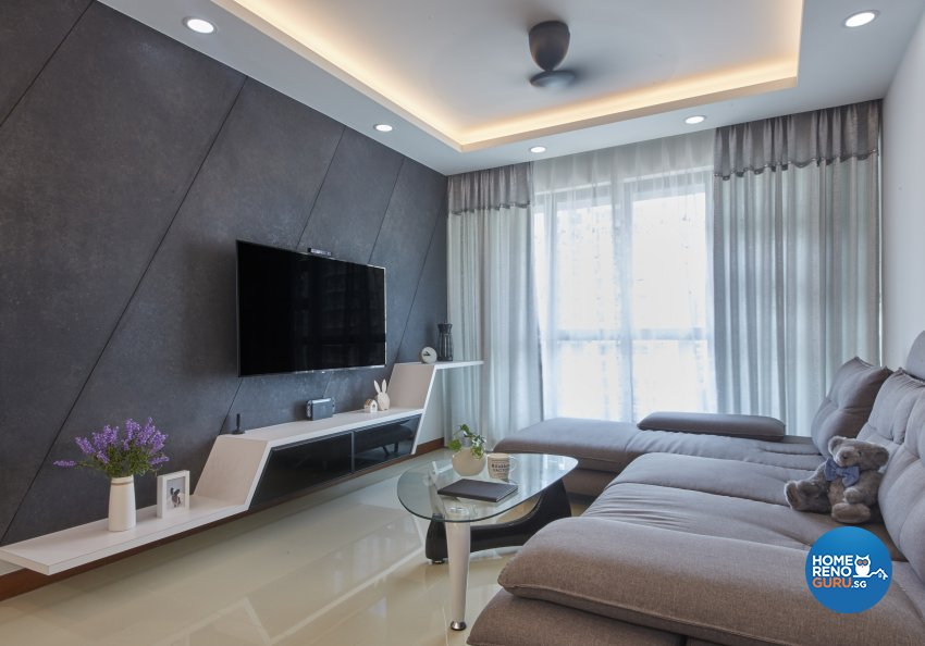 Eclectic, Modern, Scandinavian Design - Living Room - HDB 4 Room - Design by Carpenters 匠