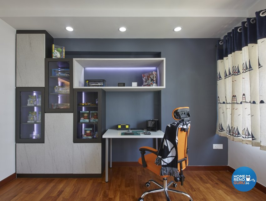 Eclectic, Modern, Scandinavian Design - Study Room - HDB 4 Room - Design by Carpenters 匠