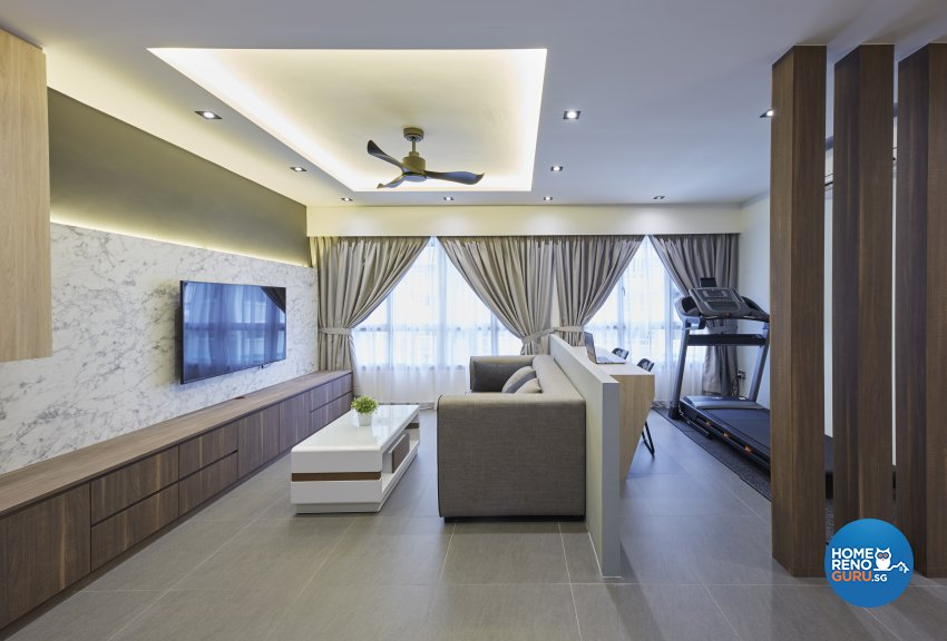 Modern Design - Living Room - HDB 5 Room - Design by Carpenters 匠