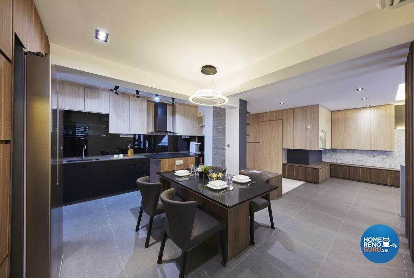 Modern Design - Dining Room - HDB 5 Room - Design by Carpenters 匠