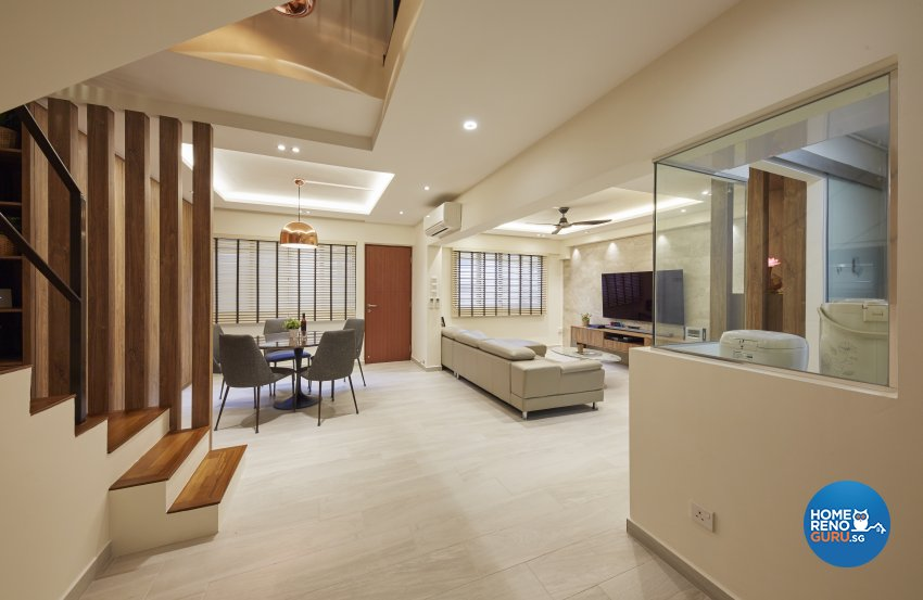 Classical, Minimalist, Modern Design - Living Room - HDB Executive Apartment - Design by Carpenters 匠