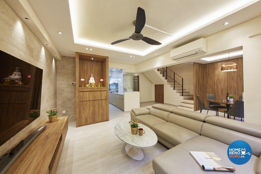 Classical, Minimalist, Modern Design - Living Room - HDB Executive Apartment - Design by Carpenters 匠