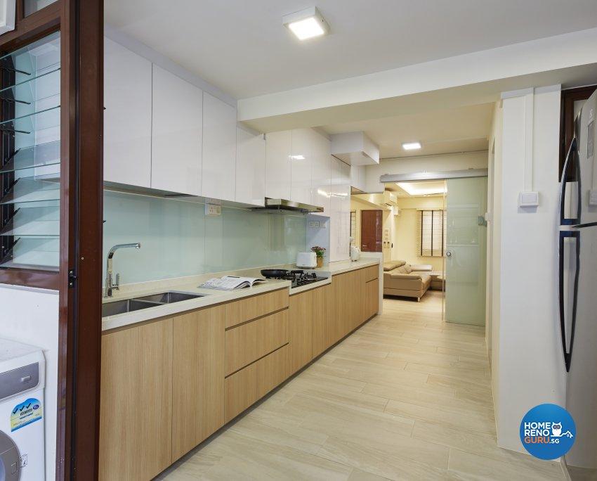 Classical, Minimalist, Modern Design - Kitchen - HDB Executive Apartment - Design by Carpenters 匠