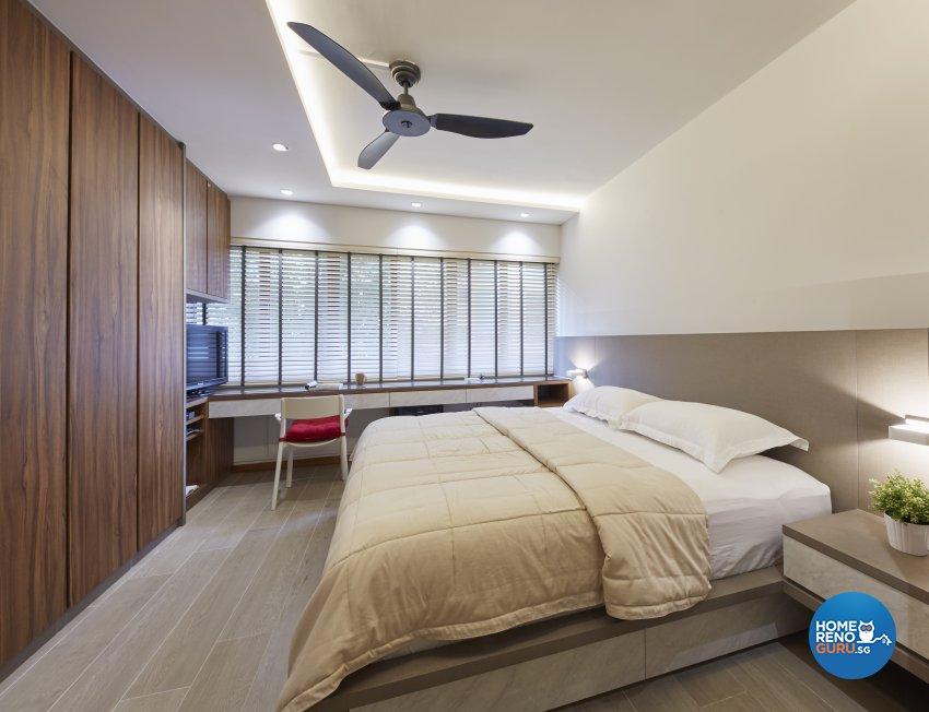 Classical, Minimalist, Modern Design - Bedroom - HDB Executive Apartment - Design by Carpenters 匠