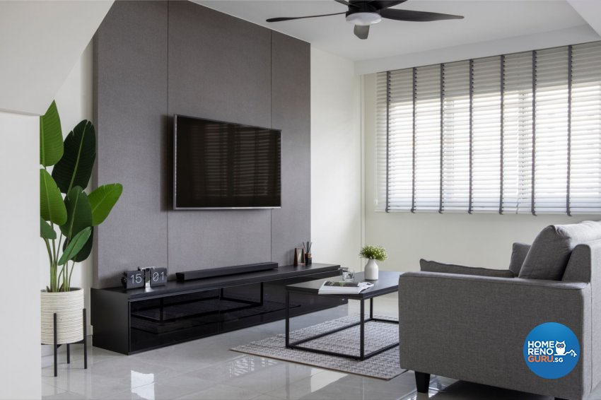 Modern Design - Living Room - HDB Executive Apartment - Design by Carpenters 匠