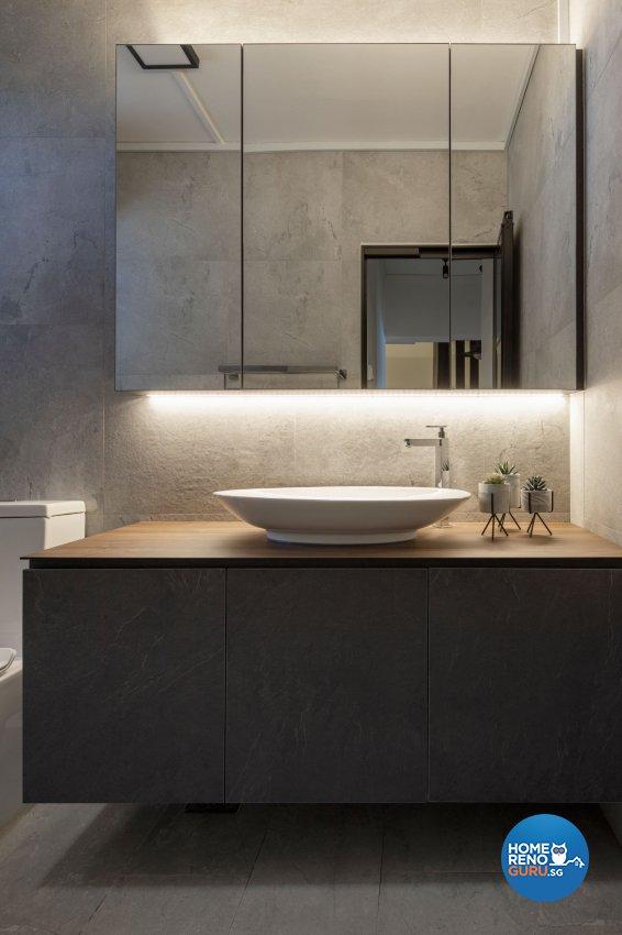 Modern Design - Bathroom - HDB Executive Apartment - Design by Carpenters 匠