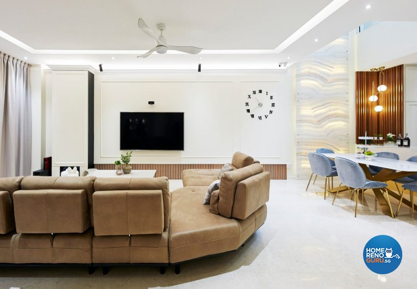 Modern Design - Living Room - Landed House - Design by Carpenters 匠