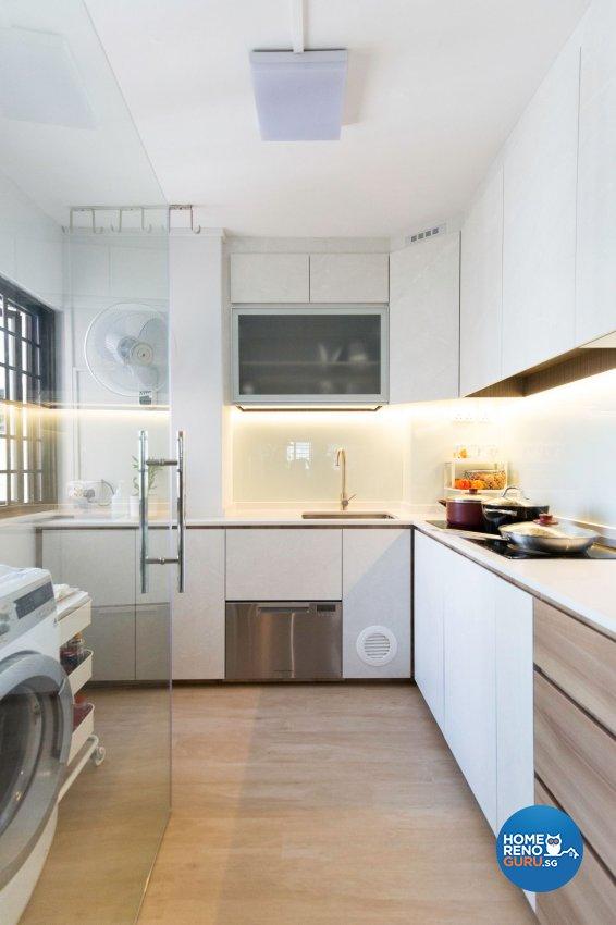Contemporary, Scandinavian Design - Kitchen - HDB 5 Room - Design by Carpenters 匠