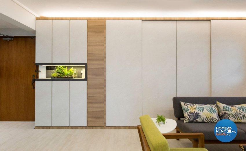 Contemporary, Scandinavian Design - Living Room - HDB 5 Room - Design by Carpenters 匠