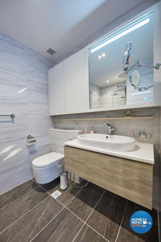 Minimalist Design - Bathroom - Condominium - Design by Carpenters 匠