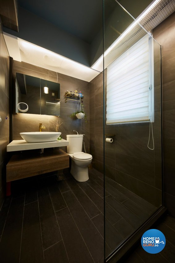 Resort, Rustic, Tropical Design - Bathroom - HDB 4 Room - Design by Carpenters 匠