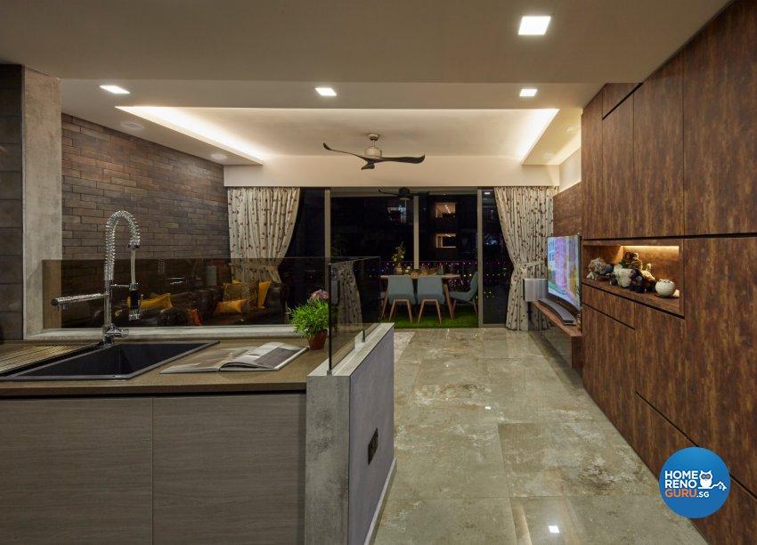 Eclectic, Modern, Rustic Design - Kitchen - Condominium - Design by Carpenters 匠