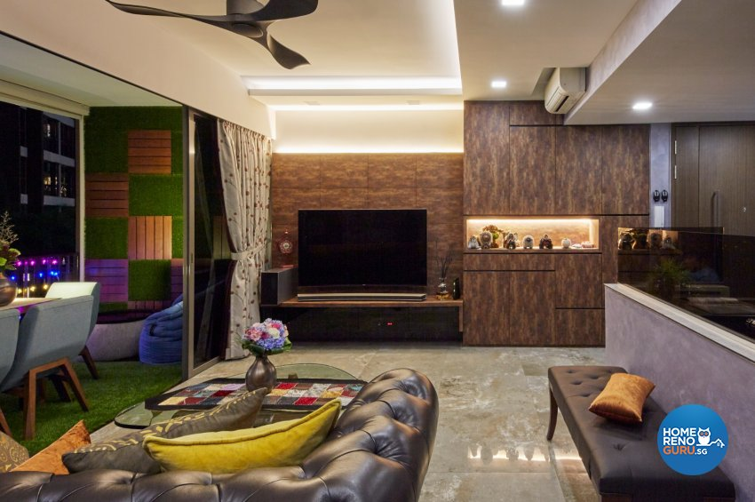 Eclectic, Modern, Rustic Design - Living Room - Condominium - Design by Carpenters 匠