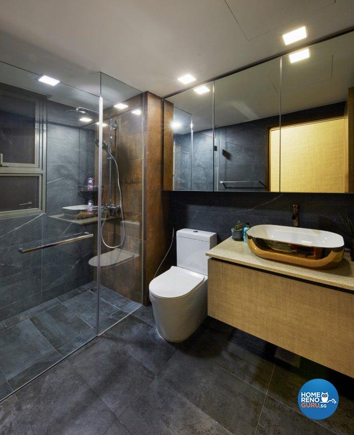 Eclectic, Modern, Rustic Design - Bathroom - Condominium - Design by Carpenters 匠