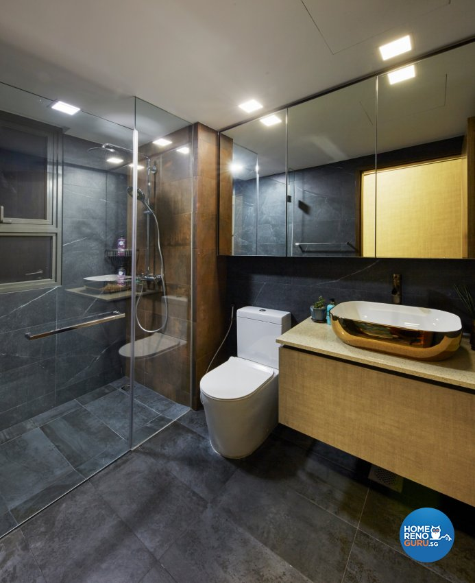Eclectic, Modern, Rustic Design - Bathroom - Condominium - Design by Carpenters 匠