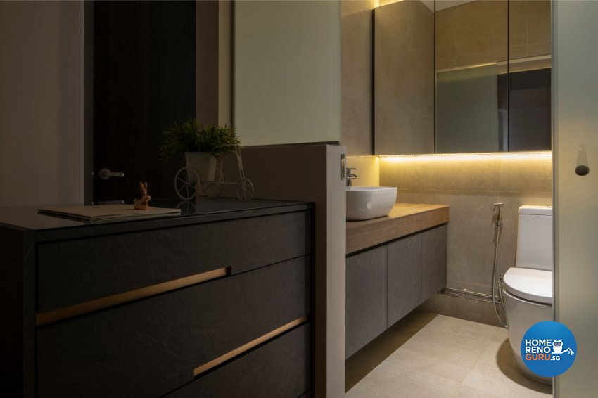 Contemporary, Modern, Scandinavian Design - Bathroom - HDB 5 Room - Design by Carpenters 匠