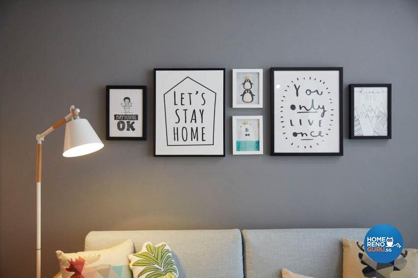 Modern, Scandinavian Design - Living Room - HDB 4 Room - Design by Carpenters 匠