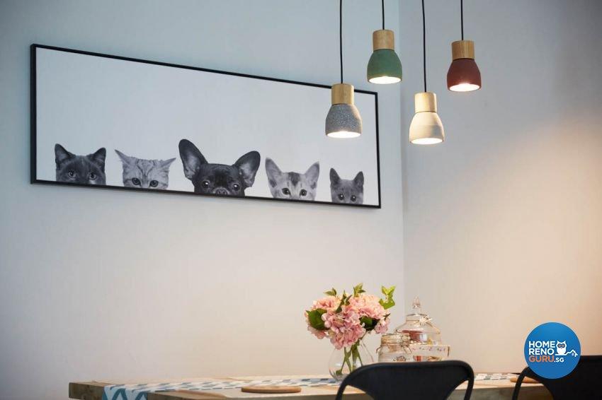 Modern, Scandinavian Design - Dining Room - HDB 4 Room - Design by Carpenters 匠