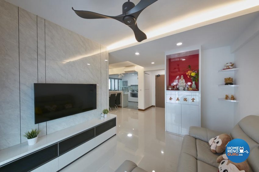 Contemporary, Minimalist, Scandinavian Design - Living Room - HDB 4 Room - Design by Carpenters 匠