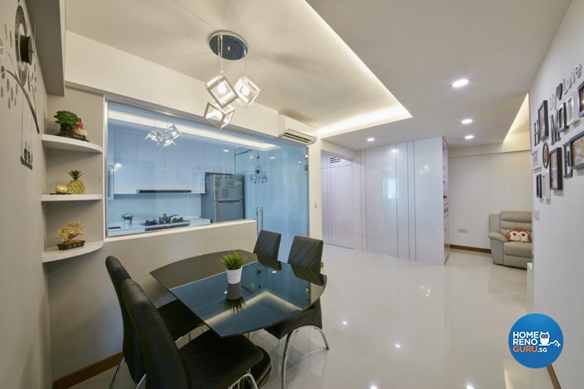Contemporary, Minimalist, Scandinavian Design - Dining Room - HDB 4 Room - Design by Carpenters 匠